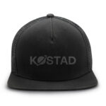 Black snapback cap isolated on white background with clipping path